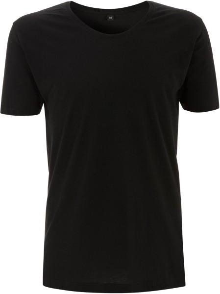 Scooped Neck T-Shirt schwarz