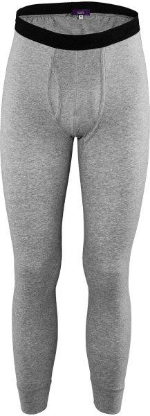 Lange Unterhose aus Bio-Baumwolle - stone grey
