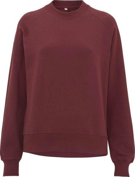 Raglan Sweatshirt aus Biobaumwolle - burgundy