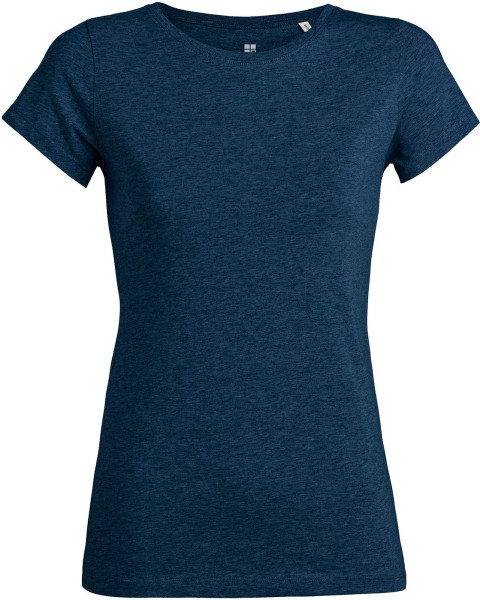 T-Shirt aus Bio-Baumwolle - black heather blue