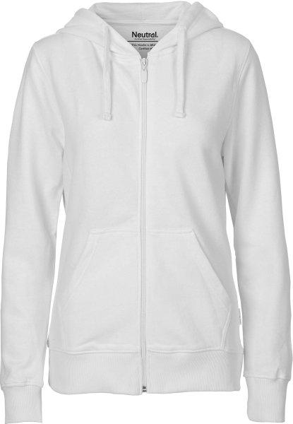Zip-Up Hoodie aus Fairtrade Bio-Baumwolle - white