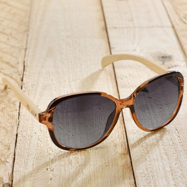 Marino Sonnenbrille recyl. Kunststoff & Bambus blackhoney