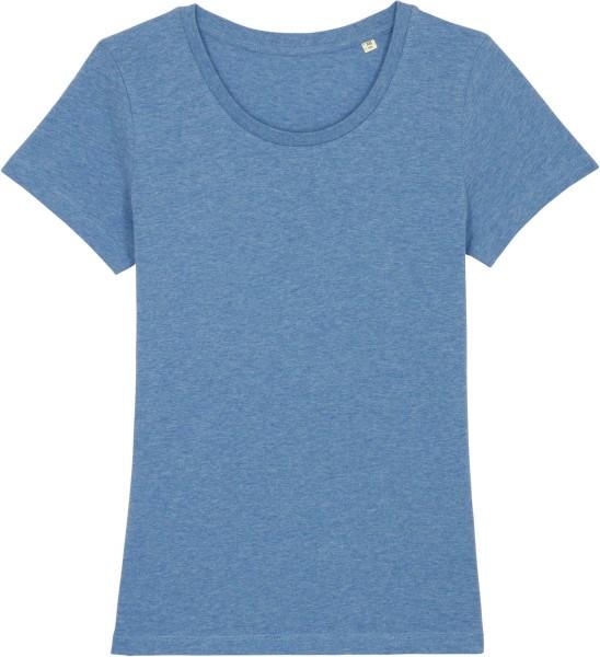 T-Shirt aus Bio-Baumwolle - mid heather blue