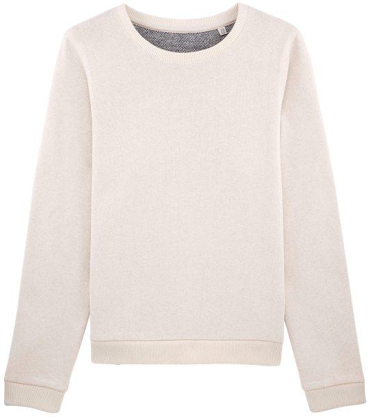 damen pullover moderner pullover aus bio baumwolle white navy twist  moderner pullover aus bio baumwolle
