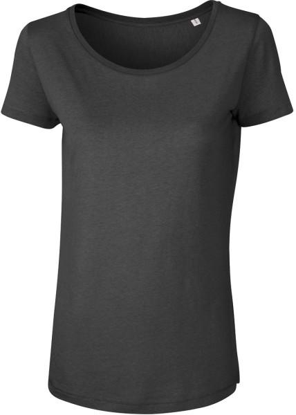 T-Shirt aus Modalfasern - anthrazit