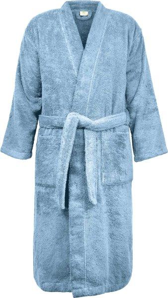 Frottee Kimono-Bademantel aus Bio-Baumwolle - denimblau