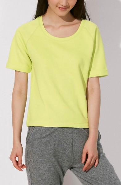 Slides - Kurzarm-Sweater aus Biobaumwolle - sunny lime - Bild 1