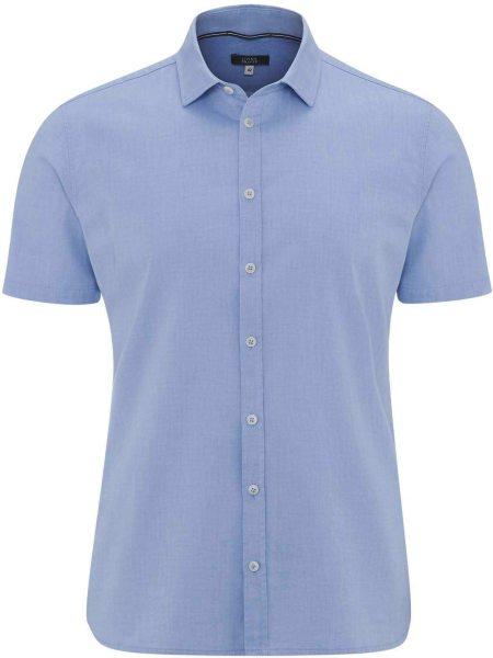 Kurzarm-Hemd aus Bio-Baumwolle - bleu
