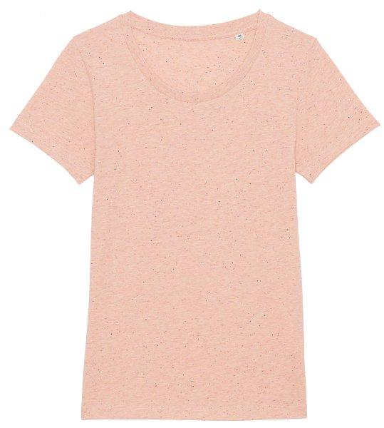 T-Shirt aus Bio-Baumwolle - heather neppy pink