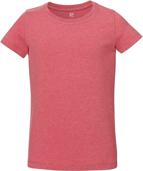 Kinder T-Shirt Bio-Baumwolle - heather cranberry