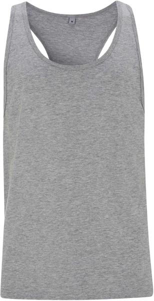 Racerback Jersey-Vest - grau meliert