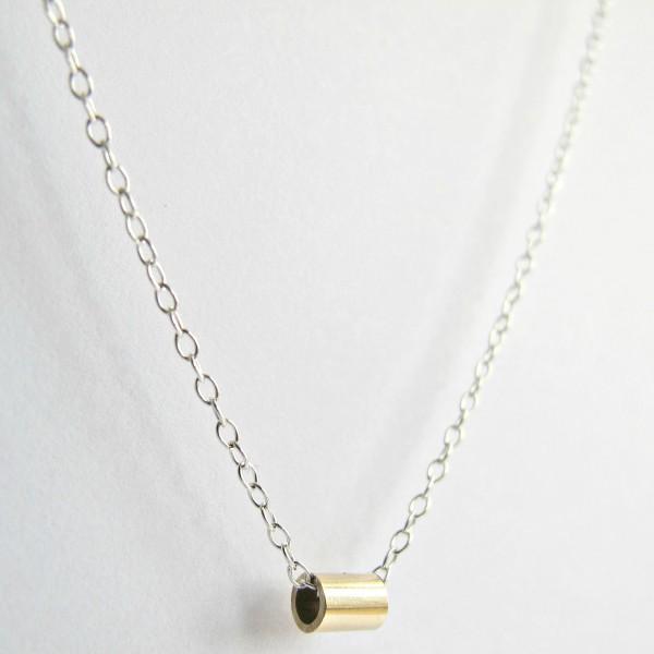 Silberkette Fairtrade Gold Anhänger Tube Necklace