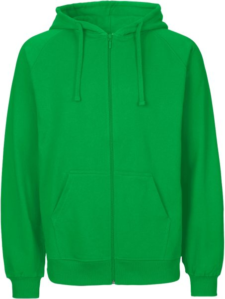 Zip-Up Hoodie aus Fairtrade Bio-Baumwolle - green