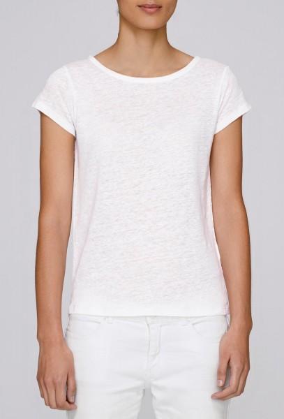 Glows Linen - Boatneck T-Shirt aus Leinen - white - Bild 1