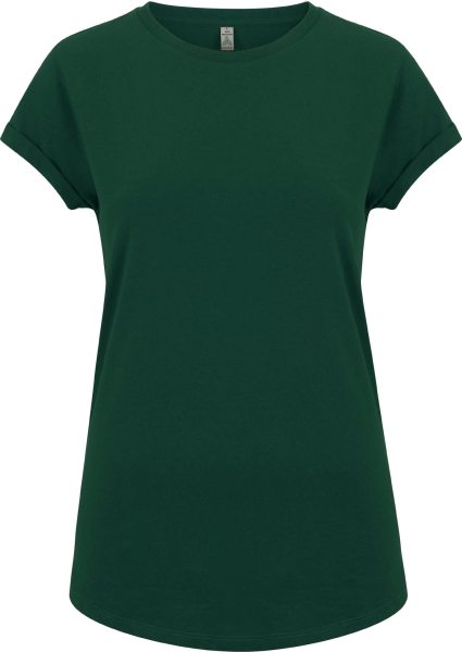 Recycled Rolled Sleeve T-Shirt - bottle green