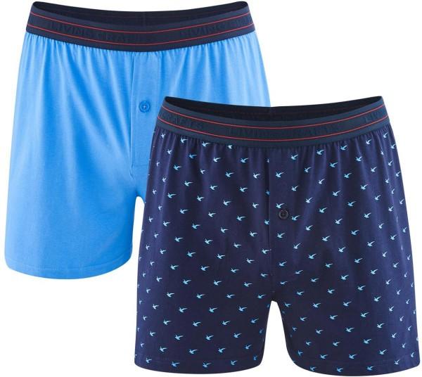 Boxer-Shorts aus Bio-Baumwolle - navy/azur