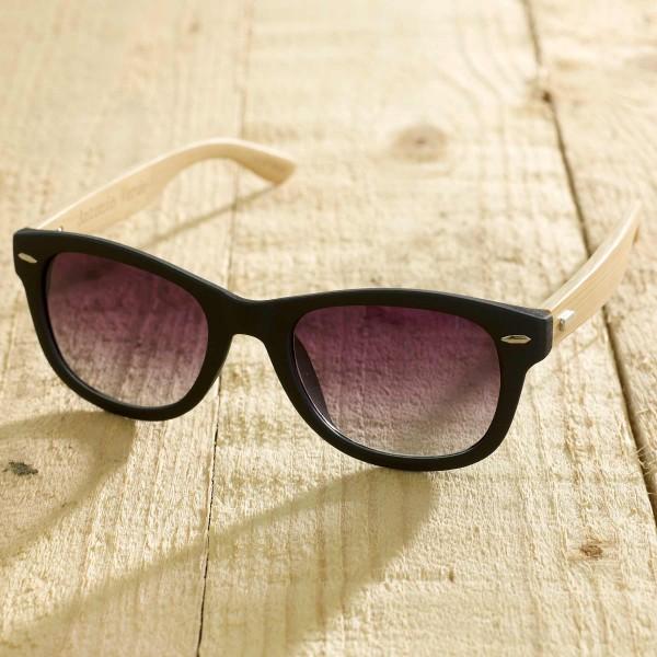Trento - Sonnenbrille aus recyl. Kunststoff & Bambus - black - Bild 1