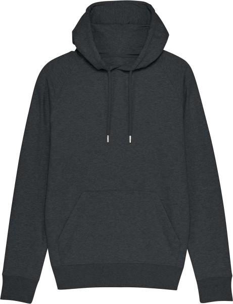 Raglan-Hoodie aus Bio-Baumwolle - dark heather grey