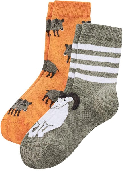 Kinder-Socken aus Bio-Baumwolle - 2er-Pack – pumpkin/nut