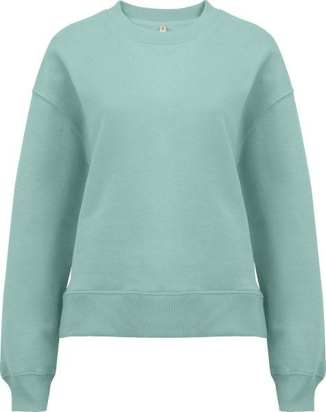 Schweres Sweatshirt aus Biobaumwolle - slate green