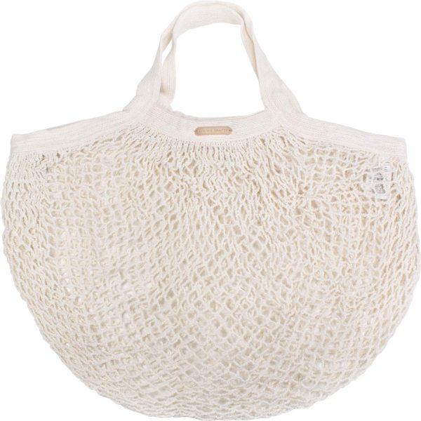 Kleine Netztasche aus Bio-Baumwolle - 36x40cm - natural