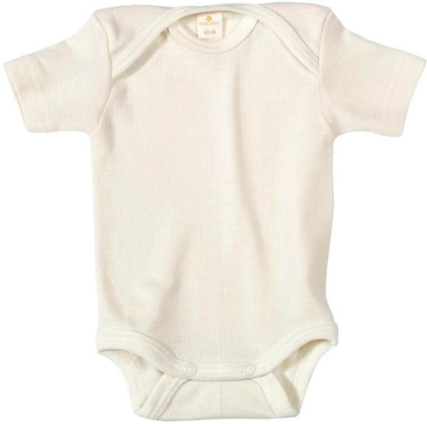Baby Kurzarm-Body aus Bio-Baumwolle - natur - Bild 1