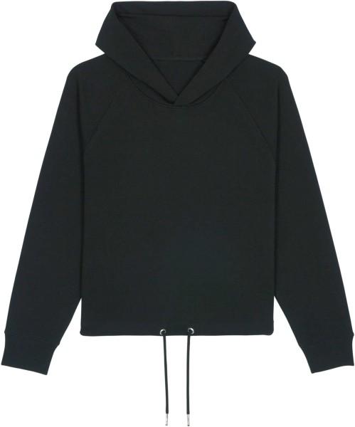 Kurzer Hoodie aus Bio-Baumwolle - black
