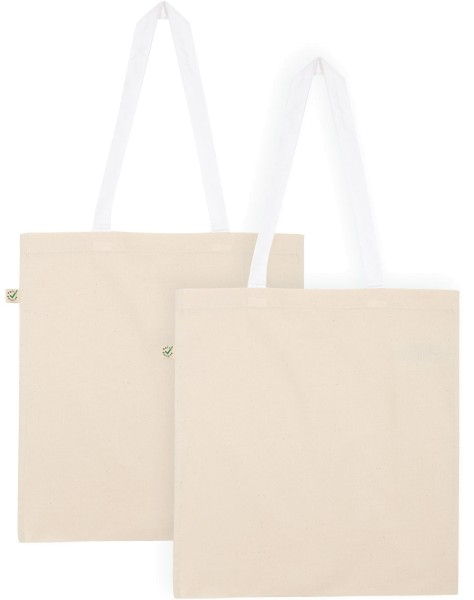 Doppelpack - Organic Cotton Bag - natur-white