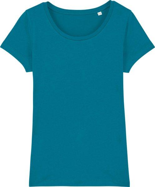 Jersey-Shirt aus Bio-Baumwolle - petrol
