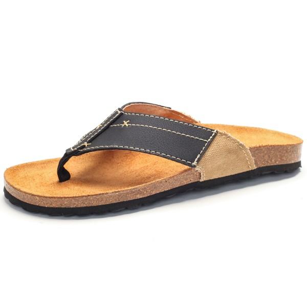 Zehensandale mit Fußbett - new york - negro