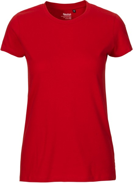 Fitted T-Shirt aus Fairtrade Bio-Baumwolle - red