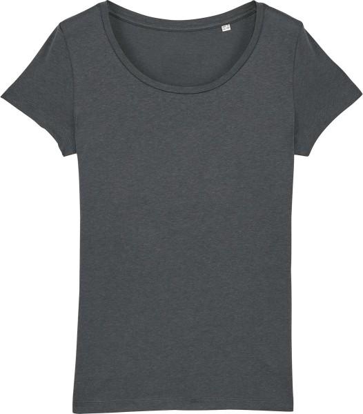 T-Shirt aus Modalfasern - anthracite