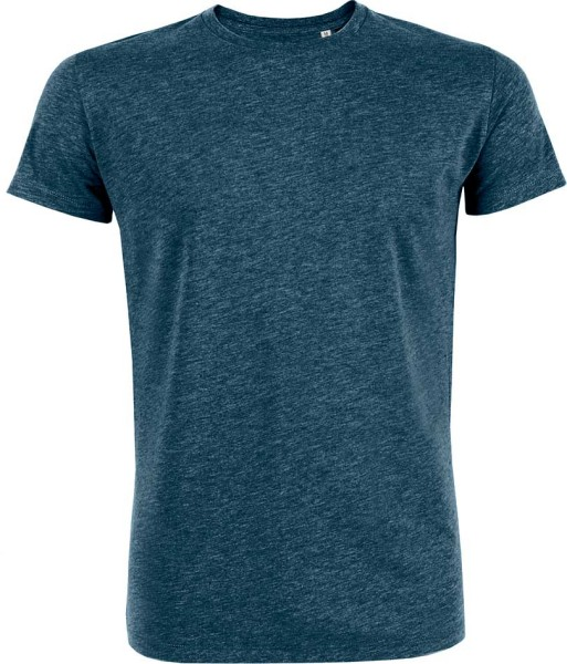 Leads - Kurzarmshirt aus Bio-Baumwolle - heather denim - Bild 1