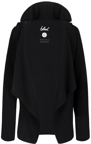 Hoodygan aus Bio-Baumwolle - schwarz