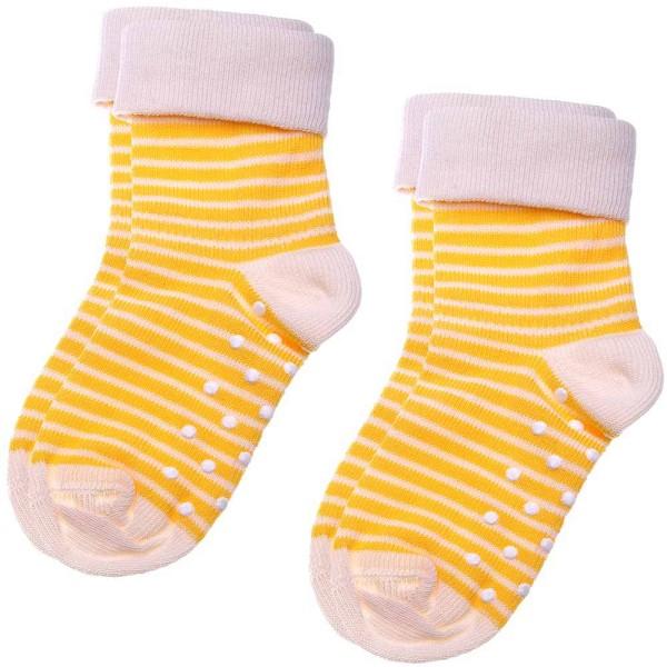 Baby / Kinder Stopper-Socken aus Bio-Baumwolle - 2er-Pack