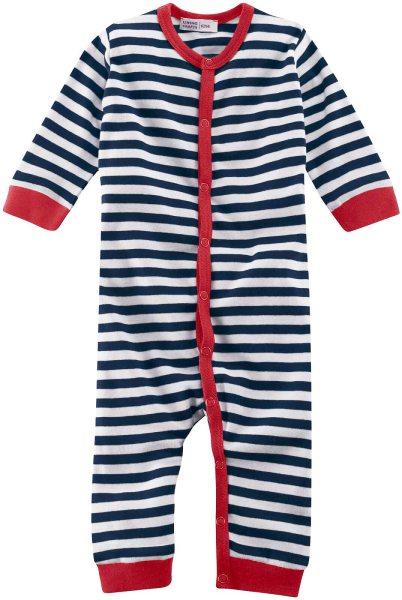 Baby Schlafanzug Bio-Baumwolle – navy/white