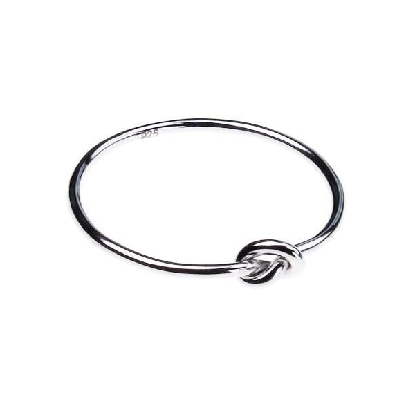 Knoten Ring – weiß vergoldet