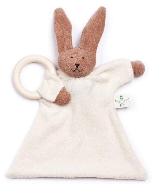 Nuckeltier Hase mit Ahornring - Puppe/Tuch aus Bio-Baumwolle - Bild 1