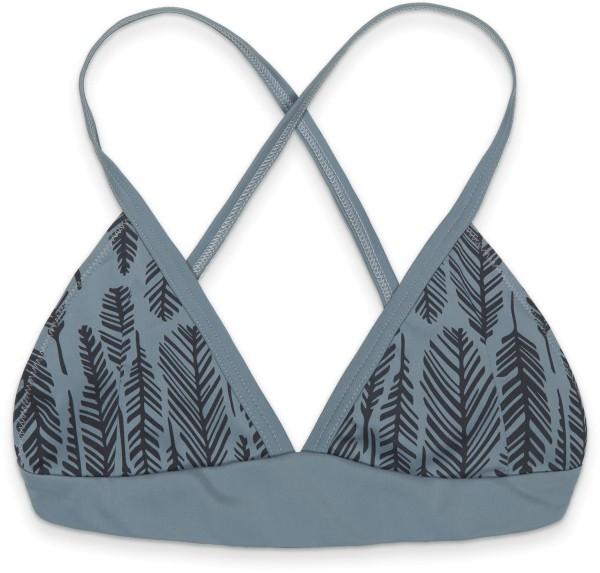 Eco Triangel Bikini Oberteil - grau gemustert