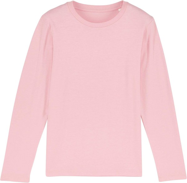 Kinder Longsleeve aus Bio-Baumwolle - cotton pink