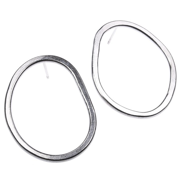 Statement Oval Earrings - Ohrring aus recyceltem Silber
