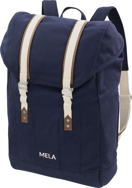Fairtrade Rucksack Mela V - Bio-Baumwolle - blau