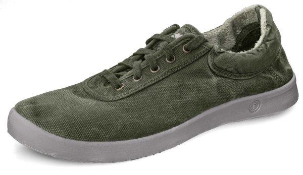 Basket Sport Enzimatico - Schnürschuhe aus Bio-Baumwolle - kaki