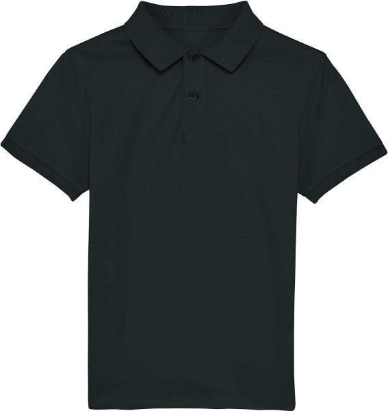 Kinder Polo-Shirt aus Bio-Baumwolle - black