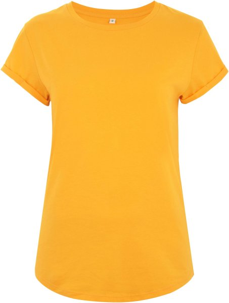 Organic Rolled Sleeve T-Shirt - gold