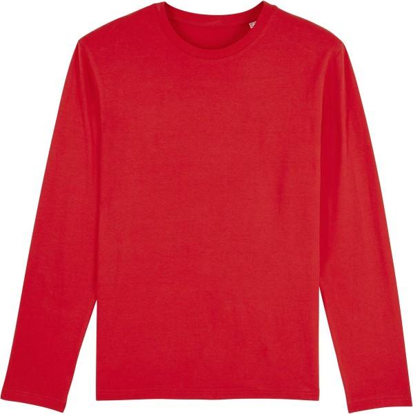 Longsleeve aus Bio-Baumwolle - red