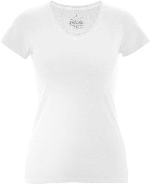 T-Shirt aus Bio-Baumwolle und Hanf - white - Bild 1
