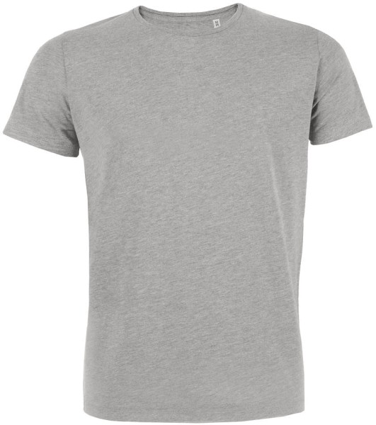Feels - Slim-Fit T-Shirt aus Bio-Baumw. grau meliert