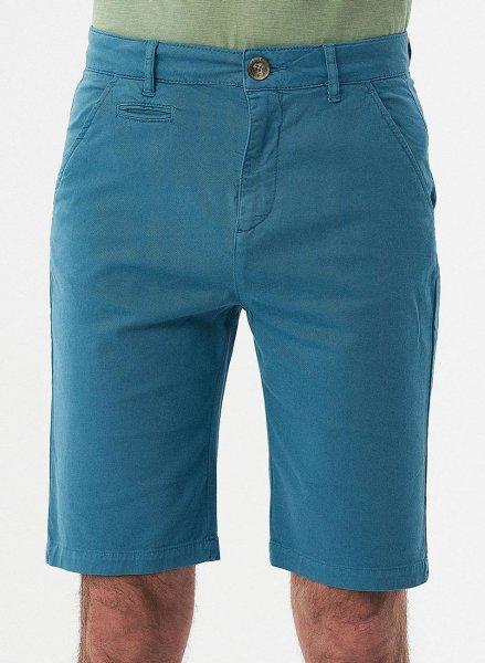 Slim Fit Shorts aus Bio-Baumwolle - petrol blue