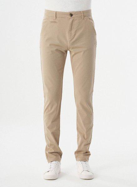 Slim Fit Chino-Hose aus Bio-Baumwolle - beige